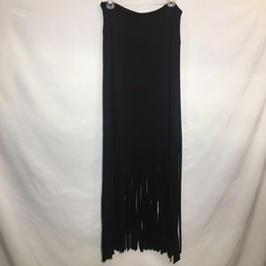 Wet Seal fringe maxi skirt